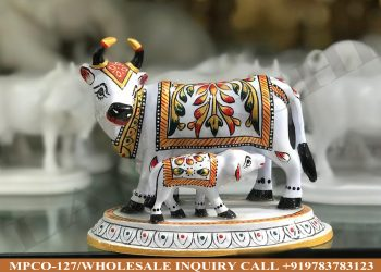 marble statues online,marble statues manufacturers, marble statues wholesale, marble idols near me, Corporate Gifts,cow,festive décor,statue manufacures