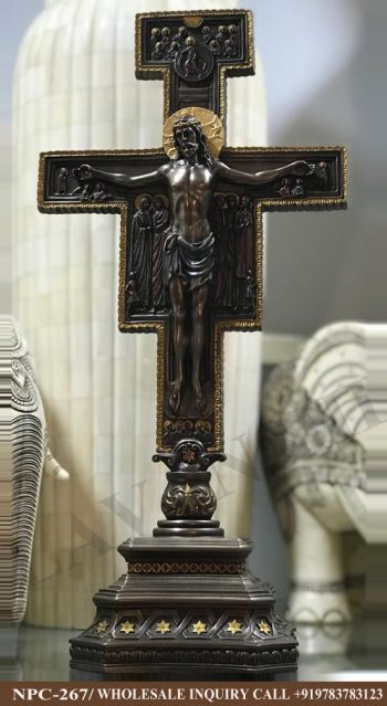 Jesus Christ Idol, Jesus Cross Statue, Jesus Home Decor Items, Jesus Statue Idol Showpiece, Jesus Statue Murti