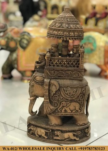 Wooden statues online,Wooden statues manufacturers, Wooden statues wholesale, Wooden idols near me, Corporate Gifts,Elephant ,festive décor,statue manufacures